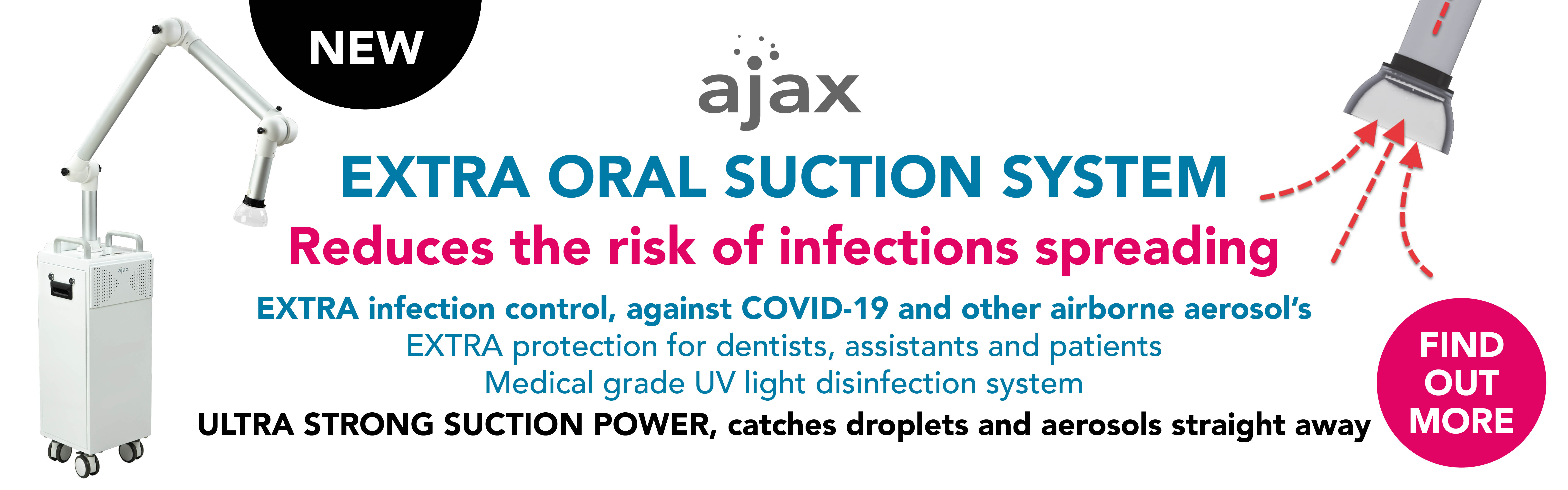 SP1000 Ajax extra Oral Suction System